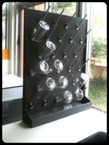 pageboard glassware, rak pengering gelas kimia