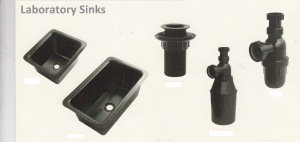 wastafel-sink PP-bottle trap, sink waste untuk laboratorium