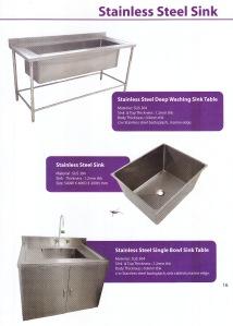 stainless sink untuk rumah sakit